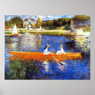 El río Sena en la bella arte de Asnieres Renoir