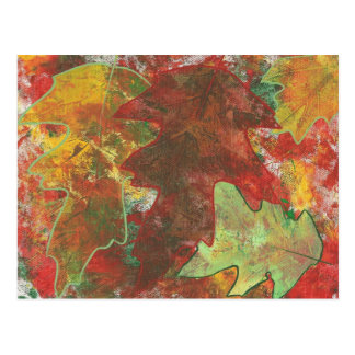 El roble abstracto colorido del otoño de la postal