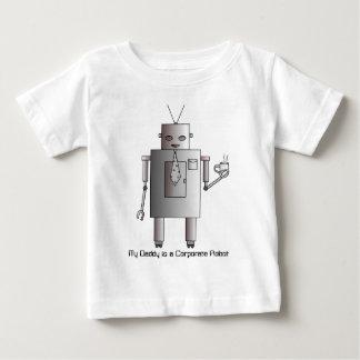 El robot corporativo ama el café, robot retro del camiseta