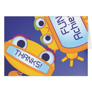 El robot le agradece: 2do El grado y sube Tarjeta Pequeña