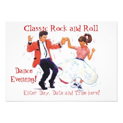 El rock-and-roll clásico Jive el baile Invitación
