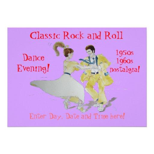 El rock-and-roll clásico Jive el baile Anuncios Personalizados