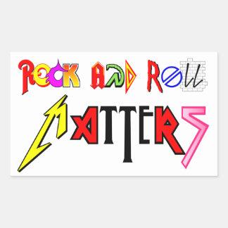 El rock-and-roll importa pegatina