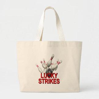 El rodar afortunado de las huelgas bolsas lienzo