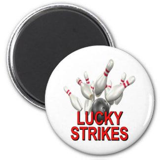 El rodar afortunado de las huelgas imán para frigorifico