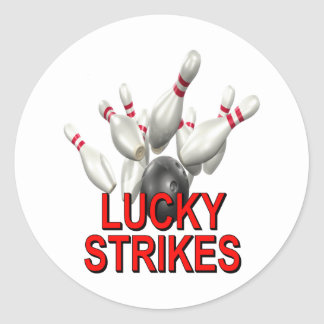 El rodar afortunado de las huelgas pegatina redonda