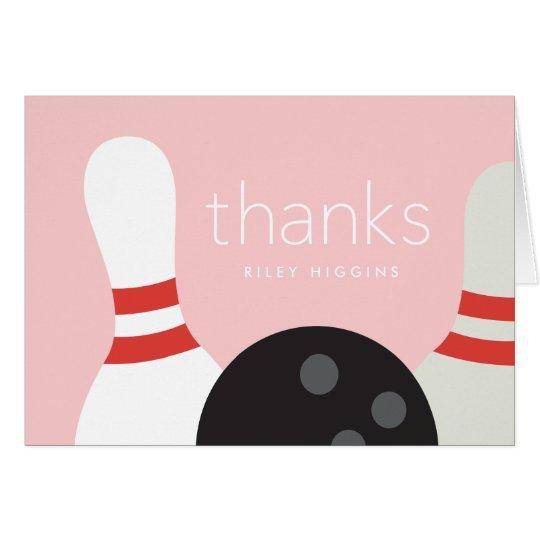 El rodar le agradece notecard tarjeta pequeña