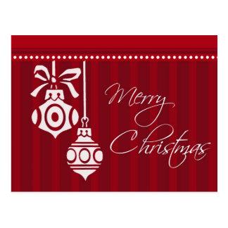 El rojo adorna las postales de las Felices Navidad