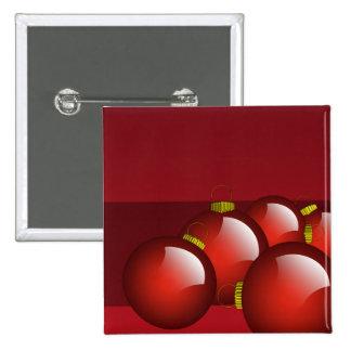 El rojo adorna los efectos de escritorio chapa cuadrada 5 cm