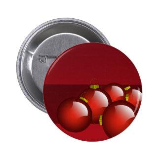 El rojo adorna los efectos de escritorio chapa redonda de 5 cm
