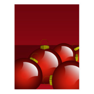El rojo adorna los efectos de escritorio postal
