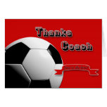 El rojo agradece al coche del fútbol tarjetas