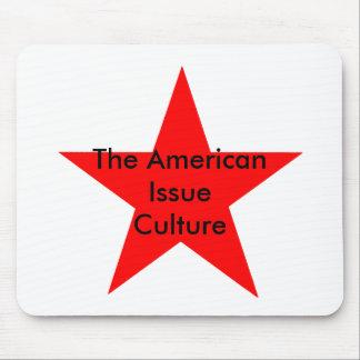El rojo americano de la estrella de la cultura del alfombrilla de ratón