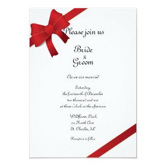 El rojo arquea el boda del invierno invitación 12,7 x 17,8 cm
