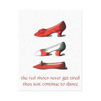 El rojo calza arte impresión en lona