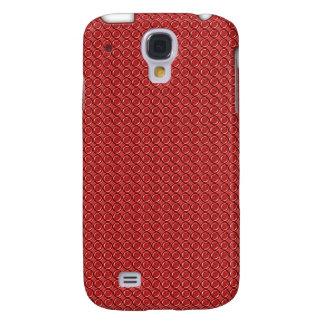 El rojo circunda iPhone3G Funda Para Galaxy S4