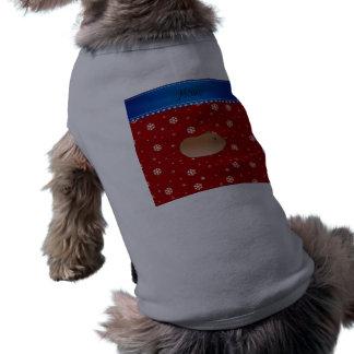 El rojo conocido personalizado del hámster camiseta sin mangas para perro