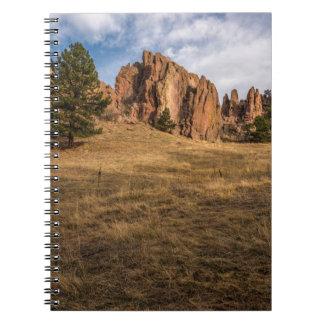 El rojo de Boulder oscila el cuaderno