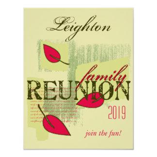 El rojo deja la reunión de familia invitación 10,8 x 13,9 cm
