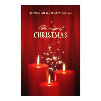 El rojo del navidad mira al trasluz el aviador del folleto 14 x 21,6 cm