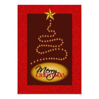 El rojo del navidad y la invitación del fiesta del