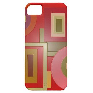 el rojo forma arte pop funda para iPhone SE/5/5s