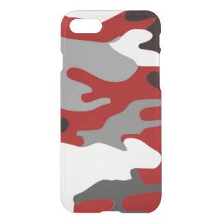 El rojo sombrea Camo Funda Para iPhone 7