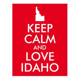 El rojo y el blanco guardan calma y aman Idaho Postal