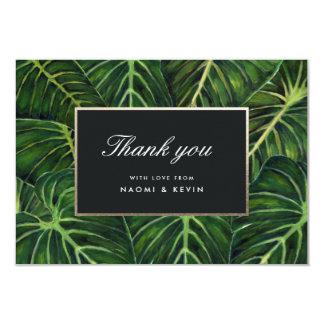 El romance tropical/le agradece invitación 8,9 x 12,7 cm