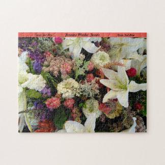 El rompecabezas de las flores personaliza el