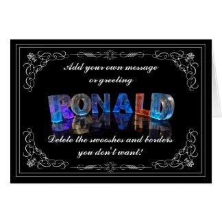 El Ronald conocido en 3D se enciende (la Tarjeta