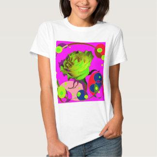 El rosa amarillo Champán fucsia burbujea los Camisetas