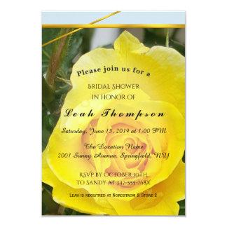 El rosa amarillo con oro raya la tarjeta nupcial invitación 8,9 x 12,7 cm