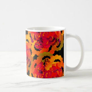El rosa anaranjado remolina taza