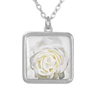 El rosa blanco de Love_ Colgante Personalizado
