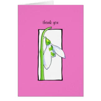 El rosa blanco de Snowdrop le agradece tarjeta de