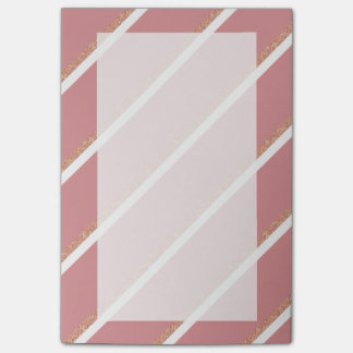 el rosa color de rosa del brillo del oro raya el notas post-it®