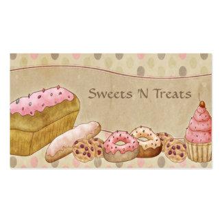 El rosa de color topo apelmaza la panadería tarjetas de visita