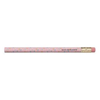 El rosa de la diversión modeló 2 líneas lápiz