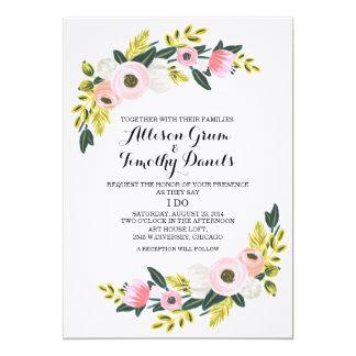 El rosa de la invitación del boda se ruboriza
