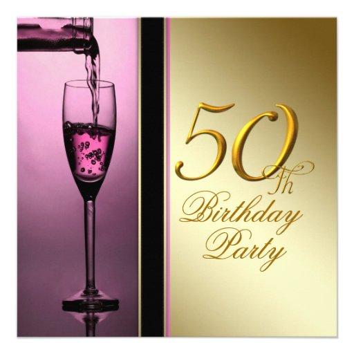 El rosa de la mujer y 50.a fiesta de cumpleaños de anuncios