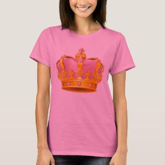 El rosa de las mujeres/camiseta de la corona del camiseta
