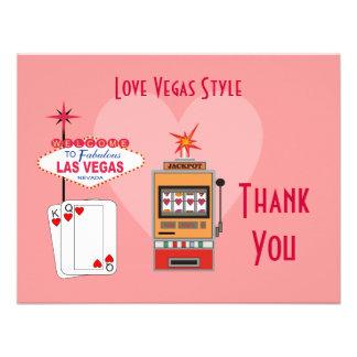 El rosa del estilo de Vegas del amor le agradece c Anuncios