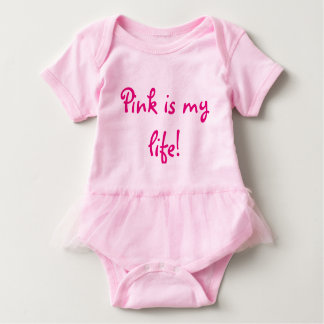 El rosa es mi mono rosado del tutú de las niñas de body para bebé