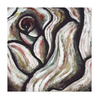 El rosa es pintura abstracta roja de los regalos impresión en lienzo