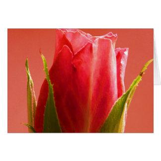 El rosa feliz del día de madre subió III Tarjeta De Felicitación