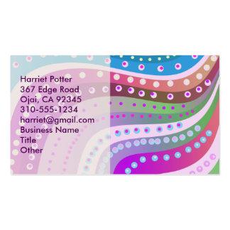 El rosa femenino lindo agita muy bien abstracto tarjetas de visita