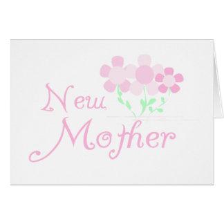 El rosa florece a la nueva madre felicitación