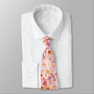 El rosa florece la primavera nupcial del boda corbata personalizada