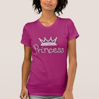 El rosa lindo impreso gotea a princesa Crown Camiseta